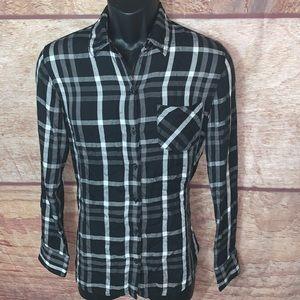 Woolrich Button Down Shirt plaid men's size medium